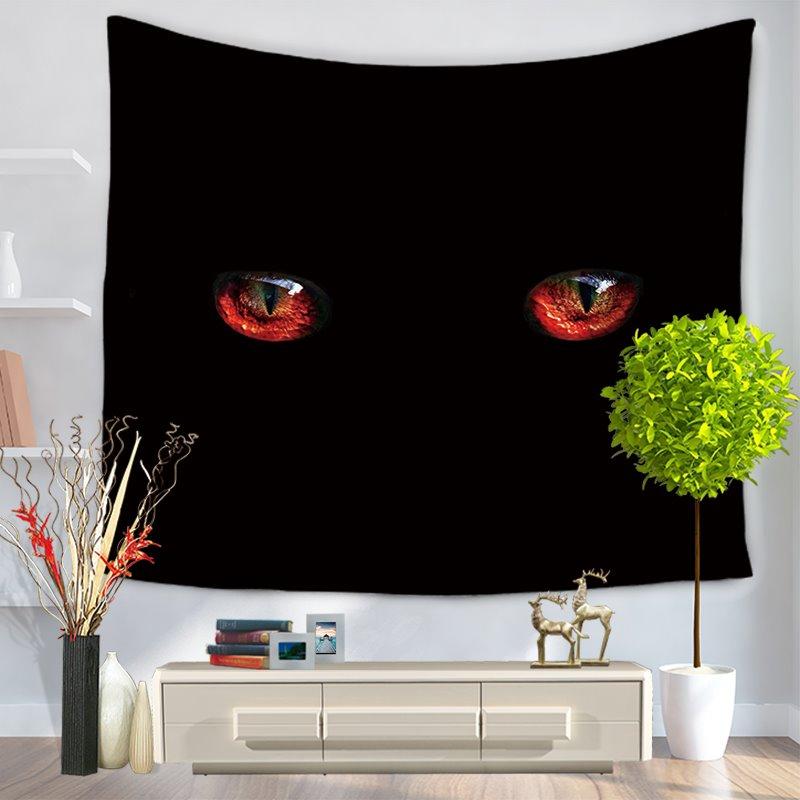 Gloomy Deep Dark Black Eyes Pattern Decorative Hanging Wall Tapestry