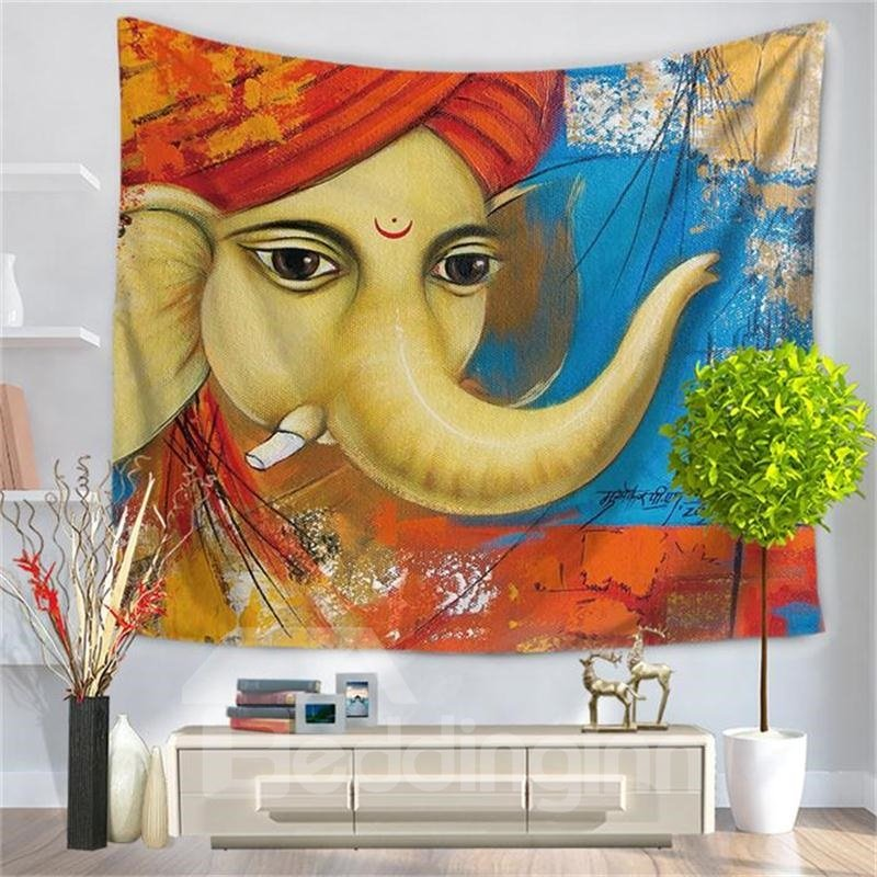 Hippy Mandala Bohemian Oriental ElephantPattern Decorative Hanging Wall Tapestry