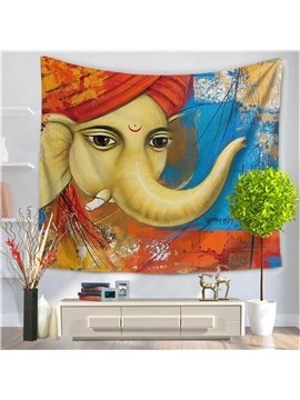 Hippy Mandala Bohemian Oriental Elephant Pattern Decorative Hanging Wall Tapestry