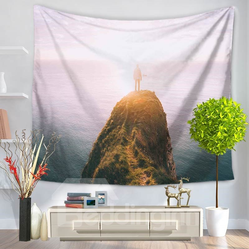 Dream Backlighting Top of the Mountain Pattern Decorative Hanging Wall Tapestry