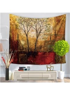 Abstract Psychedelic Art Trees Scenery Decorative Hanging Wall Tapestry