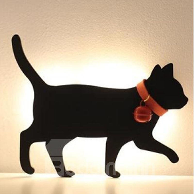 Black Cat Innovative Style Acrylic and ABS Resin Sound Control Battery Wall Light