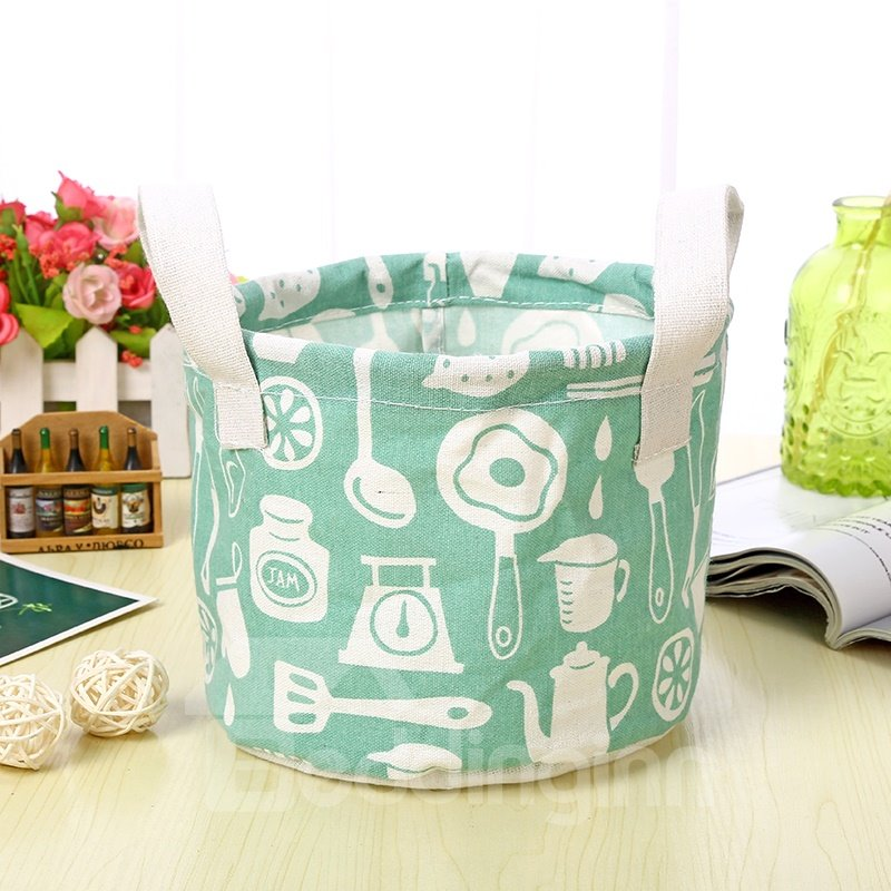 Cllapsible and Water-Proof Thick Polyester Kitchenware Concise Style Car Organizer Storage Box