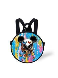Round 3D Mickey Color Block Pattern School Bag Shoulders Backpack