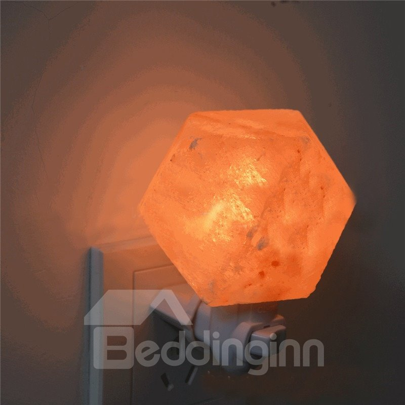 Natural Shaped Himalayan Salt Lamp Air Purifier Crystal Lamp Night Bedroom