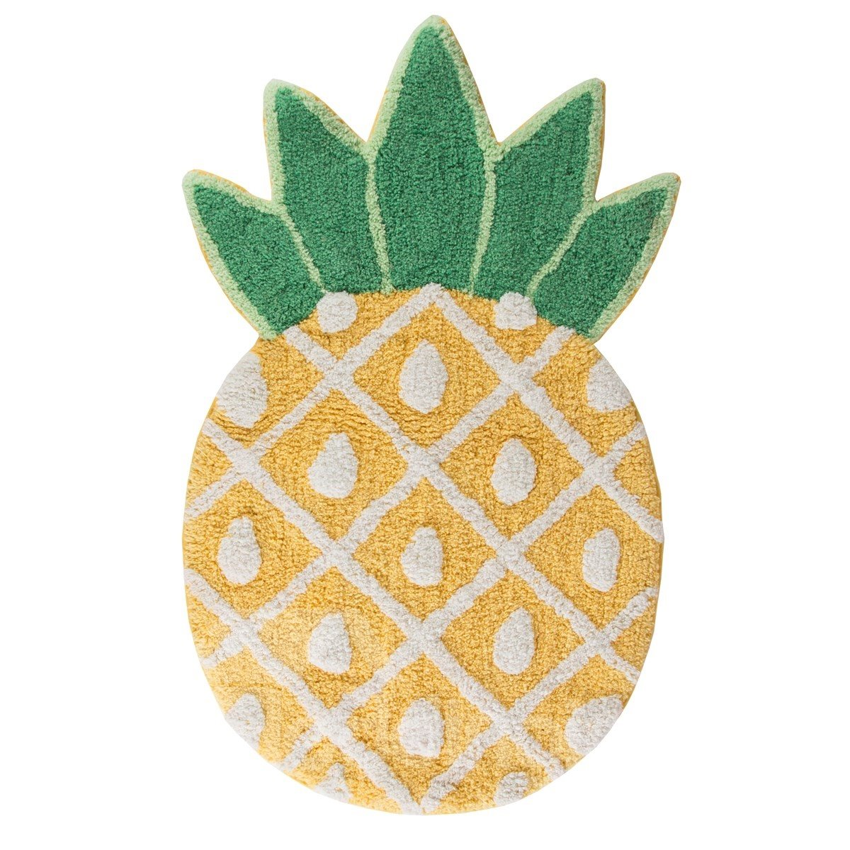 33*19in Pineapple Pattern Cotton Water Absorption and Nonslip Area Rug