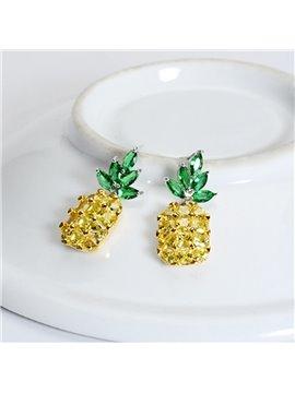 Pineapple Summer S925 Sliver Cute for Women&Girl Earrings
