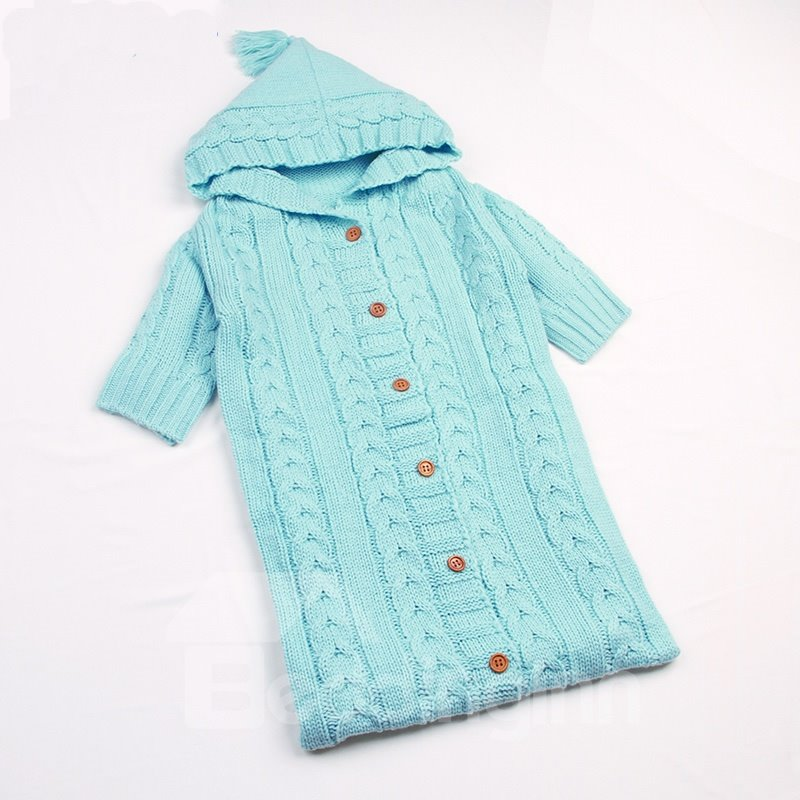 Simple Style Buttons Decoration Cotton 1-Piece Baby Sleeping Bag