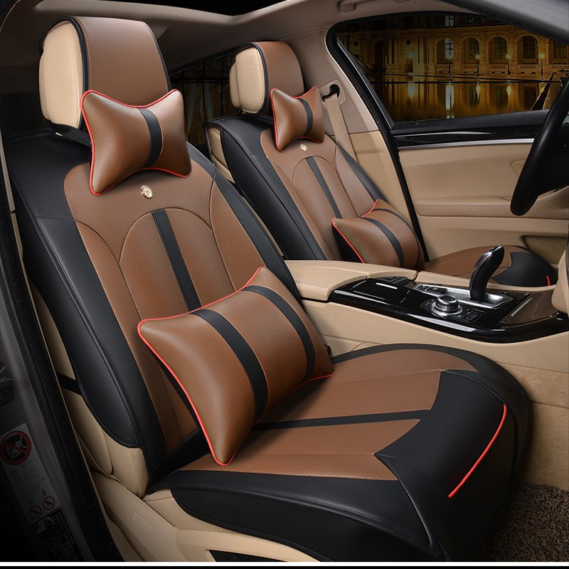 Modern Design Leather Business Universal Fit Car Seat Covers Pic