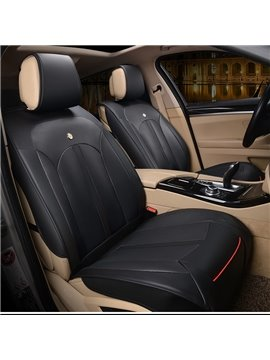 Modern Sleek Design Smooth Leather Business Style Universal Fit Car Seat Covers