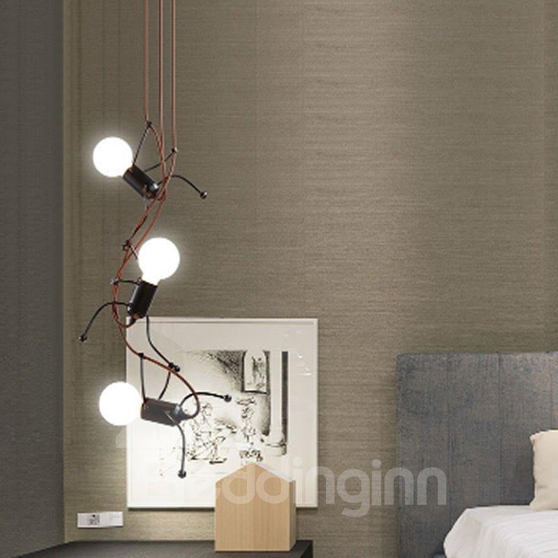 Man Shape Simple Style Energy-saving and Eco-friendly 3 Bulbs Pendant Light