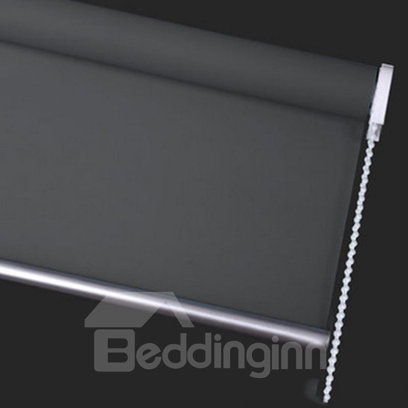 Decorative and Blackout Thick Polyester Hollowing Buildings Modern Style Creative Roller Shade