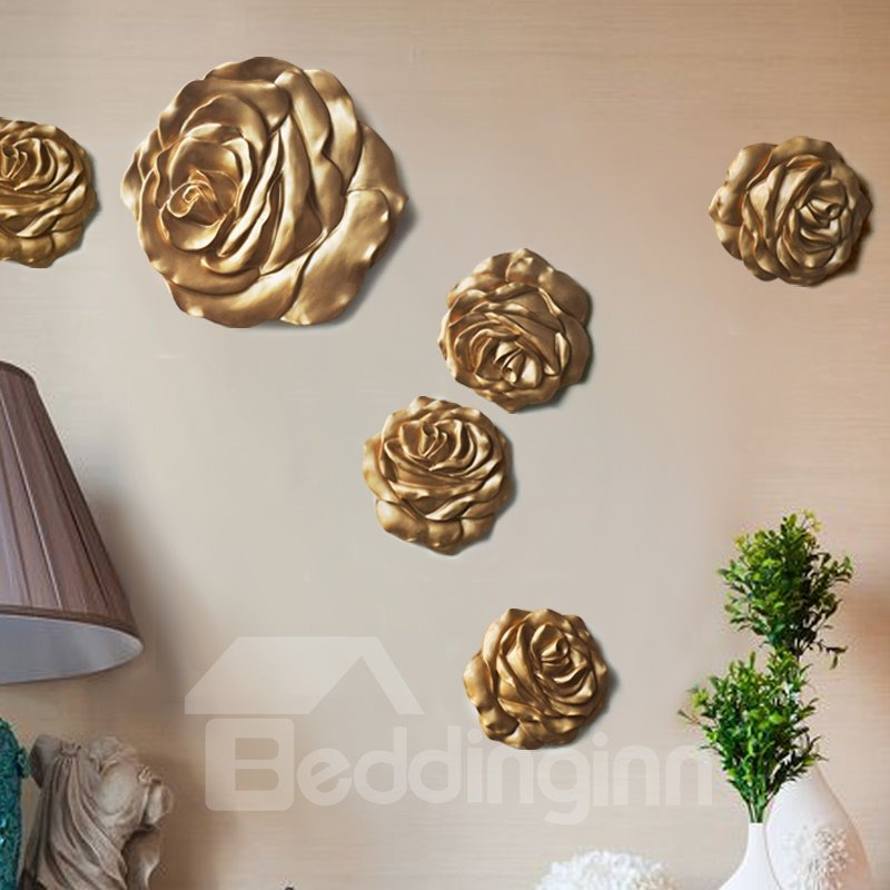 12*12in Roses Resin Eco-friendly and Durable 1 Piece Hanging Wall Decor