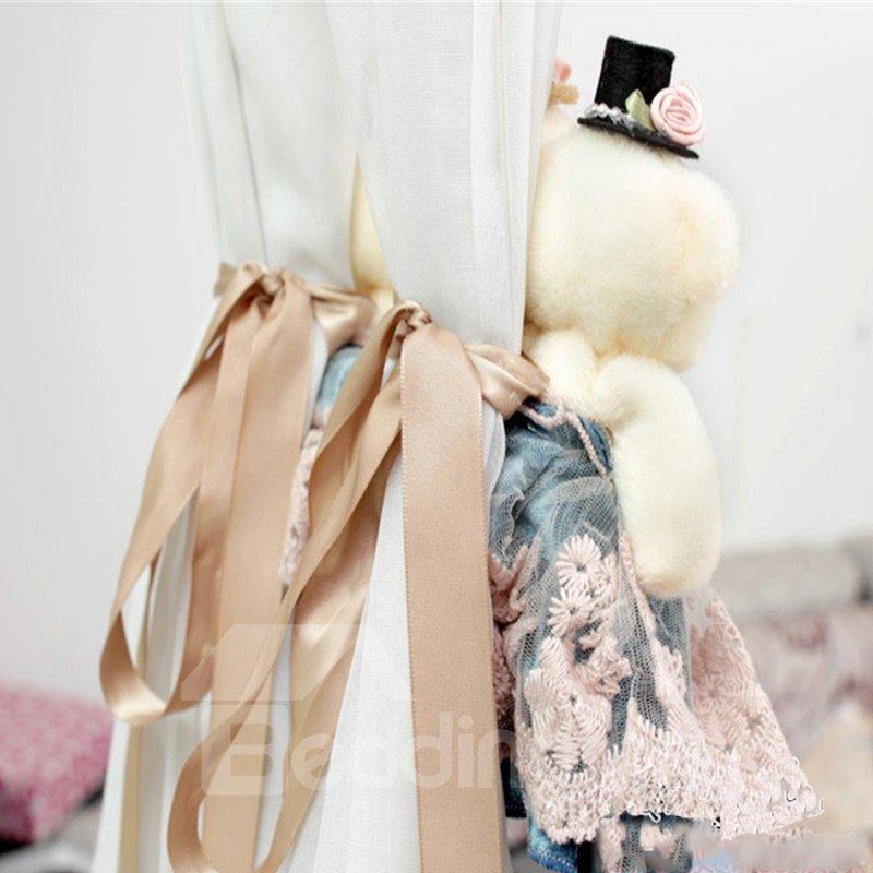 Romantic and Creative Plush Cartoon Lovely Couple Bears Modern Style Curtain Tie Backs