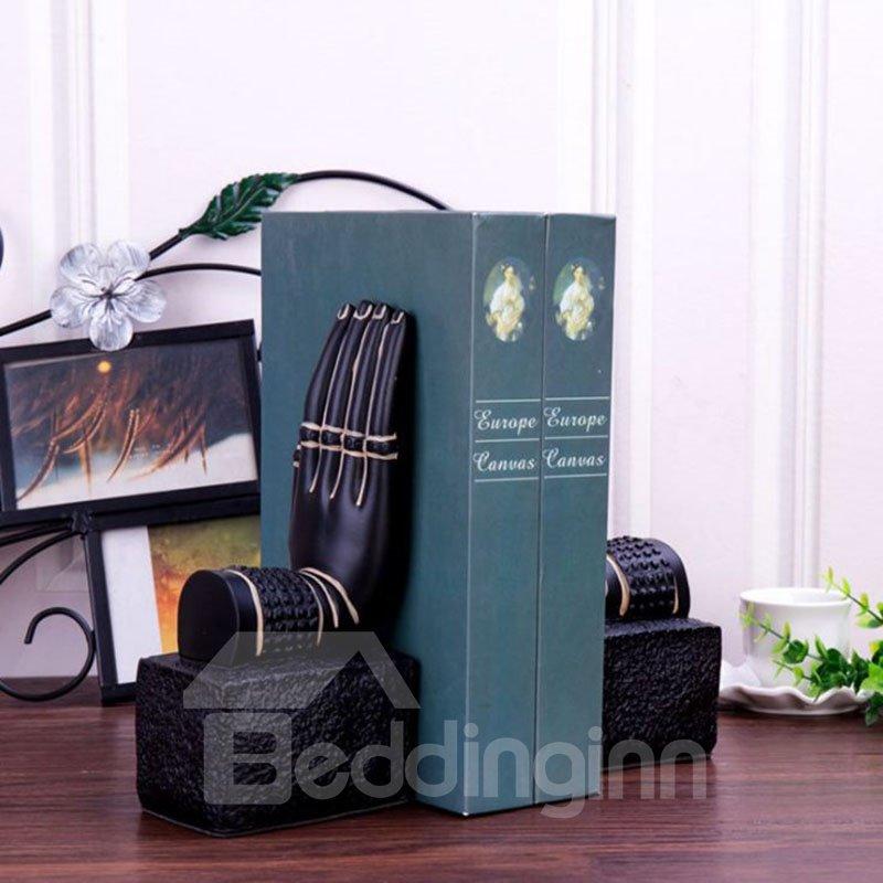 Buddha Hand on Base Design Resin Bookends Desktop Decoration