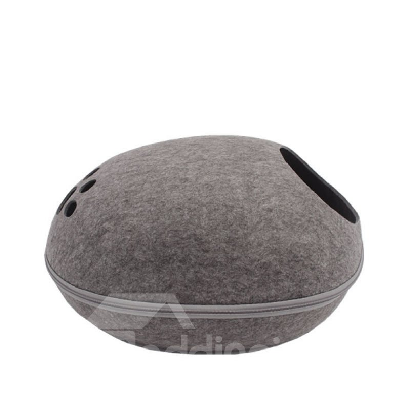 Egg Shape for Four Season Handcrafted Cat Cave Bed