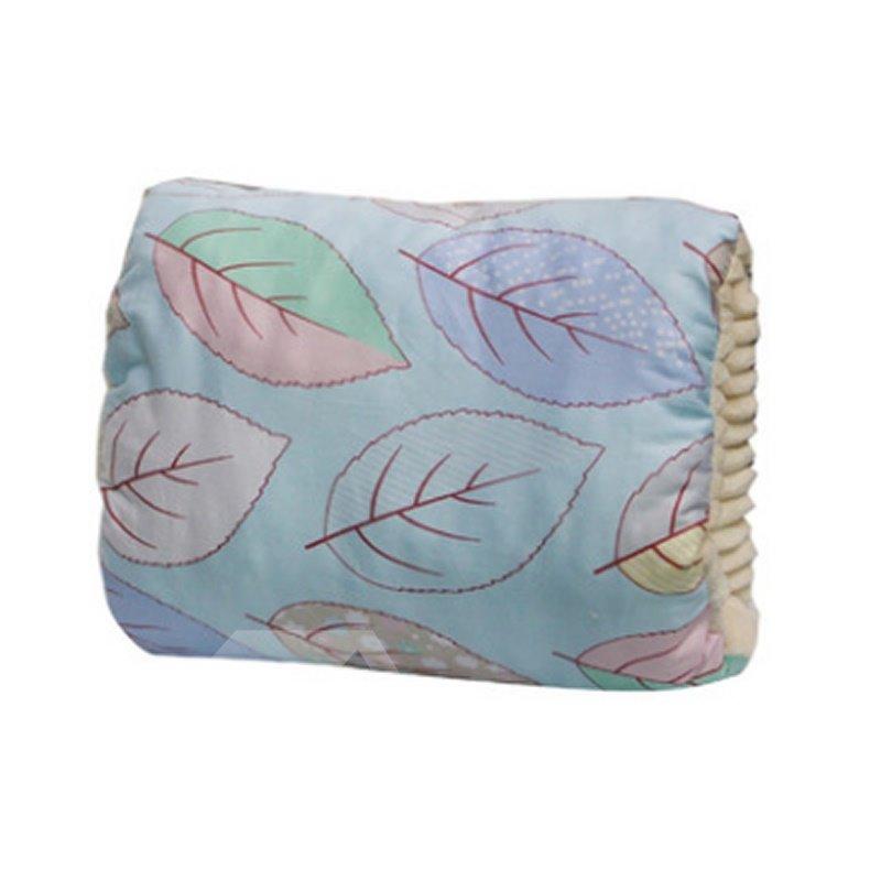 Blue Leaves Simple Style Nursing Breastfeeding Pillow