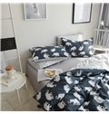 White Elephants Pattern Cotton 4-Piece Bedding Sets/Duvet Cover