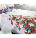 Onlwe 3D Christmas Tree and Cottage Printed Cotton 4-Piece Bedding Sets/Duvet Covers