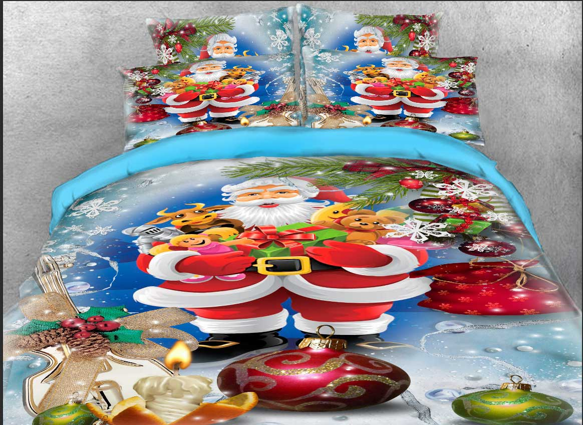 Santa Claus and Christmas Gifts Printed 3D 4-Piece Bedding Sets/Duvet Covers