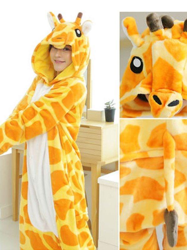 Animal Cosplay Costume Giraffe Unisex Adult Pajamas
