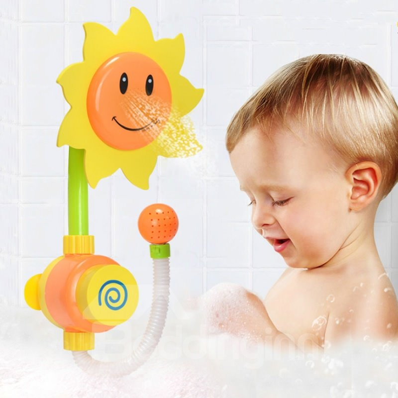 Wonderful 43 Sunflower Shape Plastic Yellow Baby Shower Head