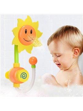 Sunflower Shape Plastic Yellow Baby Shower Head