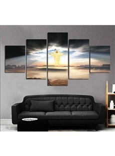 Man of God Hanging 5-Piece Canvas Eco-friendly and Waterproof Non-framed Prints