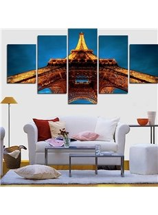 Shining Tower Hanging 5-Piece Canvas Eco-friendly and Waterproof Non-framed Prints