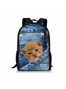 3D Animals Cat Fashion Pattern School Outdoor Backpack