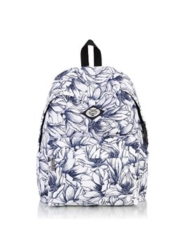 Blue Mandala Floral Pattern School Travel Shoulder Backpack