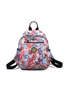 Travel Shoulder Nylon Waterproof Canvas Female Various Pattern Backpack