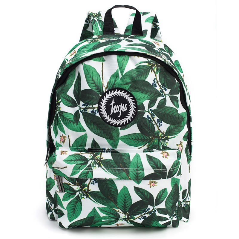 Tropical Leaves Pattern School Travel Shoulder Backpack