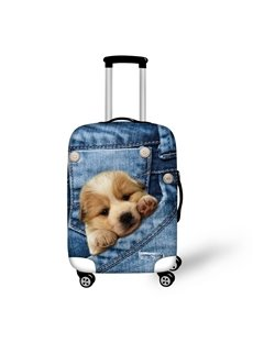 3D Jeans Style Puppy Dog Waterproof Suitcase Protector for 19 20 21