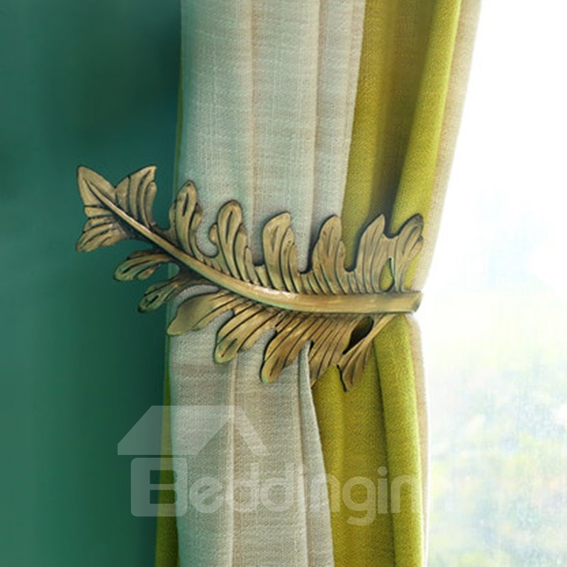 Original and Modern European Style Leaves U-Shaped Curtain Hooks and Wall Hooks