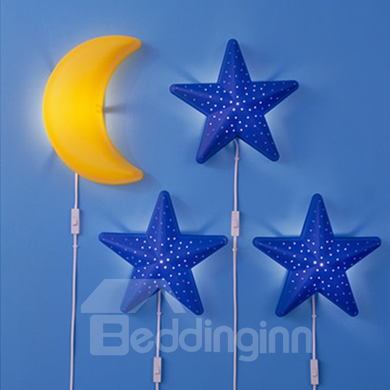 Beautiful and Lovely Star Moon and Clouds Flowers Baby Bedroom Wall Lights
