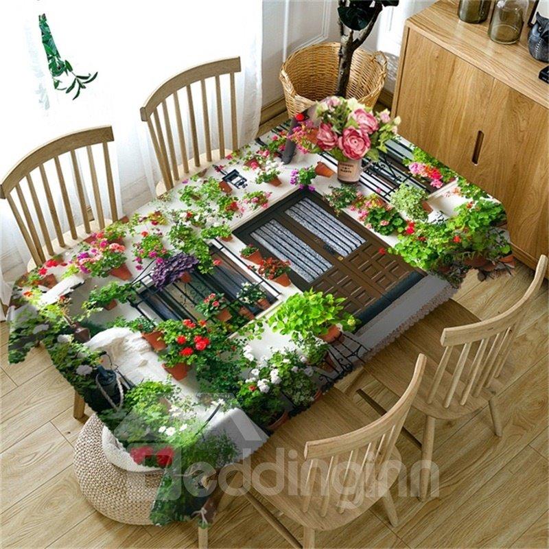 Wonderful Flowers House Romantic And Warm Style 3d Table Cover Beddinginn Com
