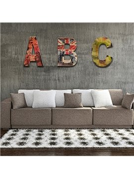 Letter Pattern Creative Style Wood Solid and Eco-friendly Custom Hanging Wall Decor
