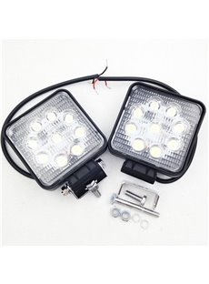 Two Piece Package 27W 9x3W Pro Grade LEDs Vehicle Add on Lights High Output