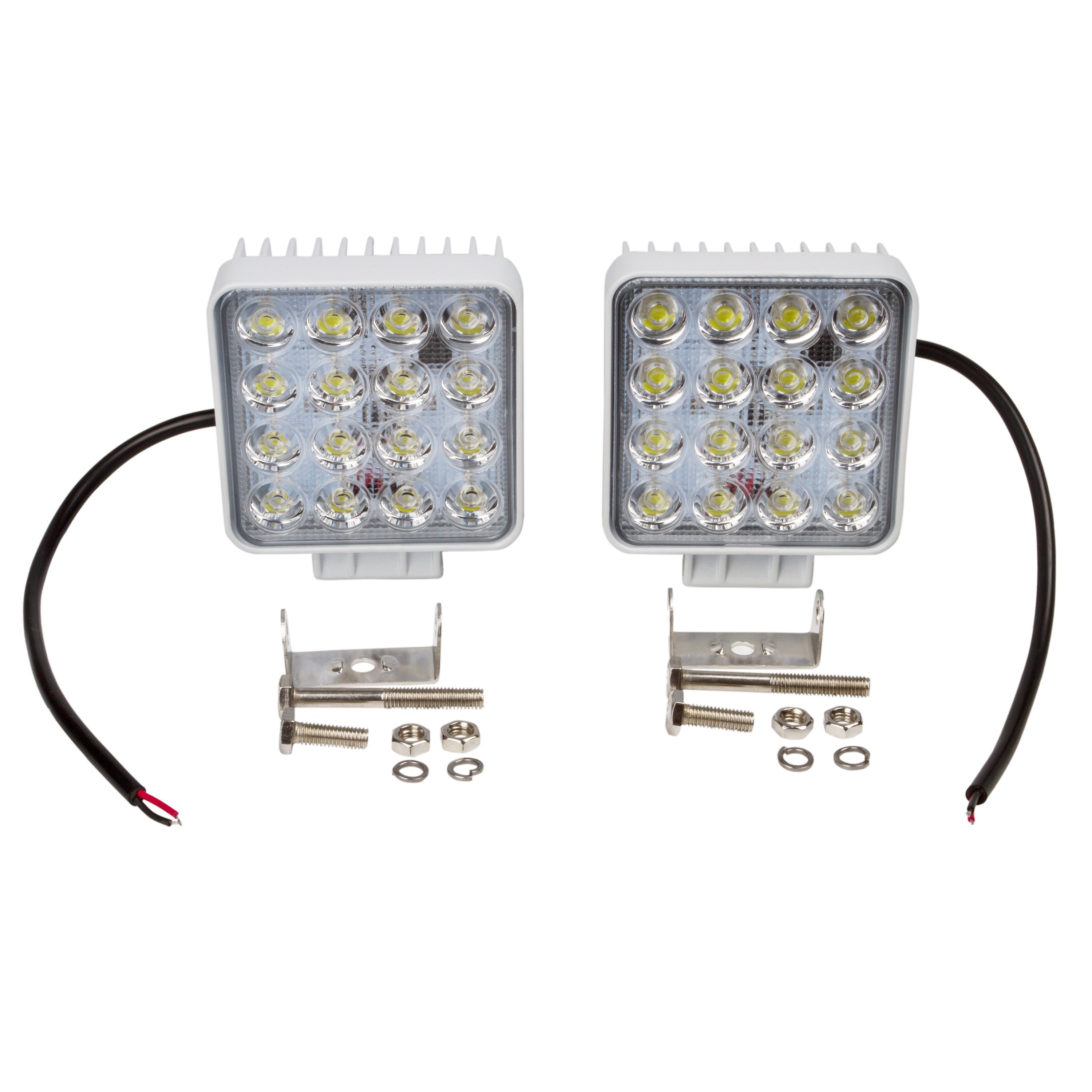 Two Piece Package White Exterior 16x3W 48W High Output Outdoor Lighting Unit