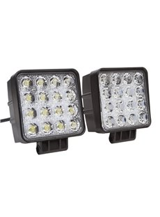 Multifunctional 48W LED Work Light for Camping Construction and Various Outdoor Activities 2PCs