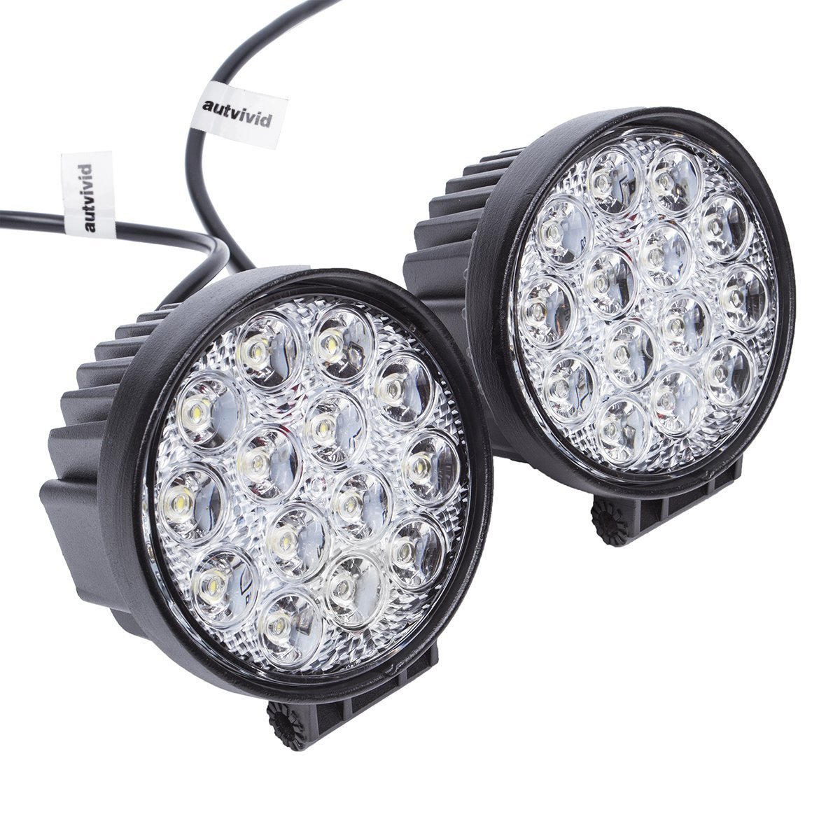 Dual 27W Heavy Duty Flood Lights For Outdoors and Emergency Lighting