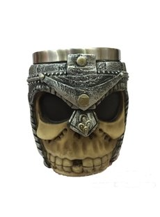 3D Stainless Knight Skull Printed Coffee and Milk Cup Creative and Halloween Gift