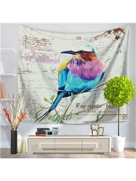 Oil Painting Colorful Bird Pattern Decorative Hanging Wall Tapestry