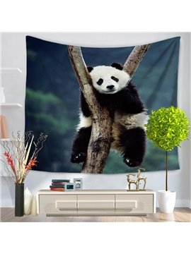 Cute Panda Sitting on the High Trunk Decorative Hanging Wall Tapestry