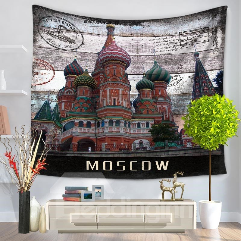 Moscow Postcard St. Basil\'s Pattern Vintage Style Decorative Hanging ...