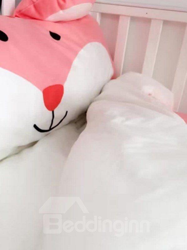 Squirrel Shape Coral Velvet 3-Piece Pink Baby Sleeping Bag