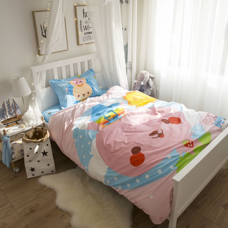Cartoon Baby Printed Cotton 3-Piece Duvet Covers/Bedding Sets