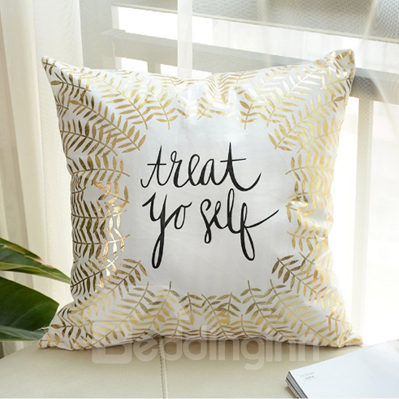Bronzing Home Pillowcases Cover Lips Love Heart Pineapple Pattern Throw Pillow