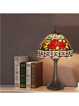 Retro and Classical Tiffany Table Lamp Bedroom and Living Room Energy Saving Lamp